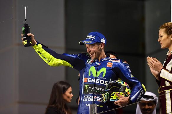 Valentino Rossi, Qatar MotoGP podium 2017