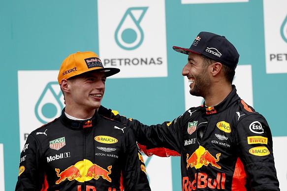 Ricciardo Verstappen Malaysia 2017