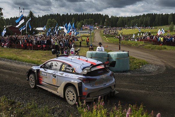 Thierry Neuville Hyundai WRC Rally Finland 2017