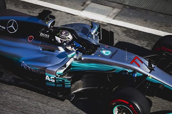 Valtteri Bottas Mercedes F1 2017 testing