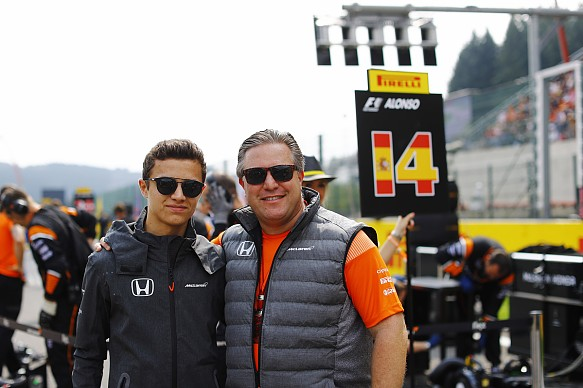 Lando Norris and Zak Brown.