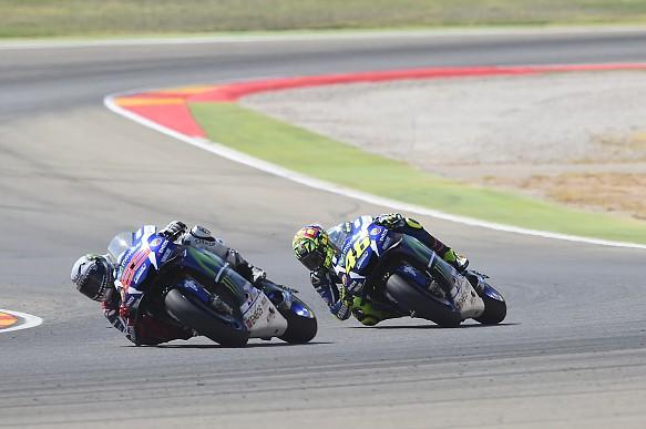 Jorge Lorenzo, Valentino Rossi, Yamaha, MotoGP Aragon 2016