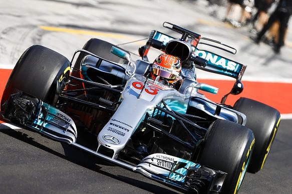 George Russell Mercedes Hungaroring F1 test 2017