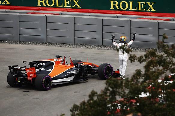 Fernando Alonso McLaren retires Canadian GP 2017