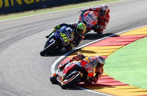 Marquez Rossi Dovizioso Aragon MotoGP 2017