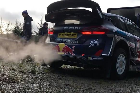 Sebastien Ogier M-Sport WRC testing Wales Rally GB 2017