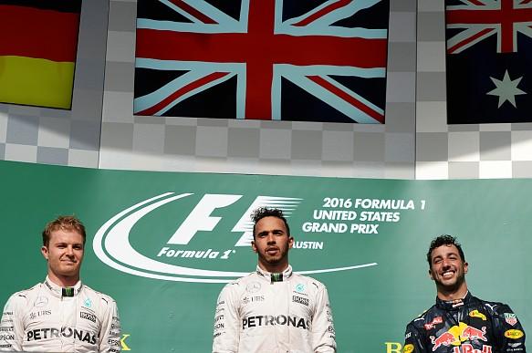 Ricciardo, podium, Austin