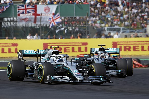 Bottas Hamilton Mercedes British Grand Prix 2019