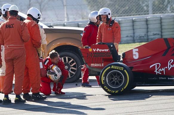 Sebastian Vettel Ferrari Formula 1 2020 Barcelona tes