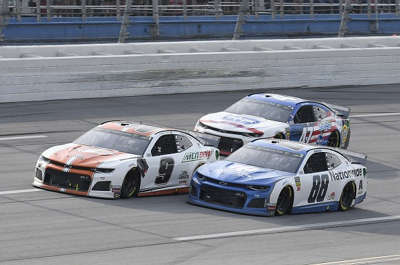 Alex Bowman Chase Elliott Ryan Preece NASCAR Talladega 2019