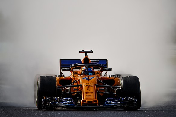 Lando Norris McLaren Hungaroring Young Driver Test