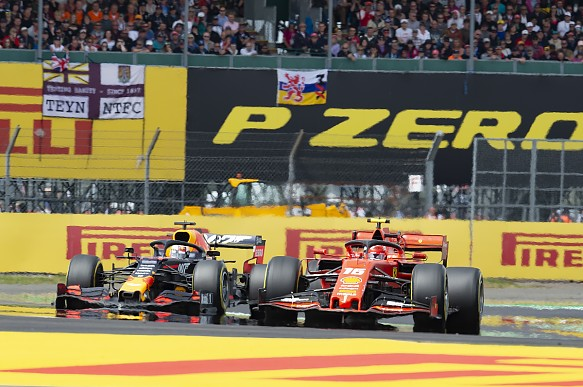 Verstappen Leclerc British Grand Prix 2019