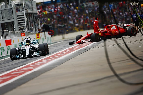 Mercedes and Ferrari F1 2017