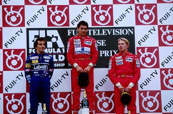 Prost Senna Hakkinen 1993 F1 podium