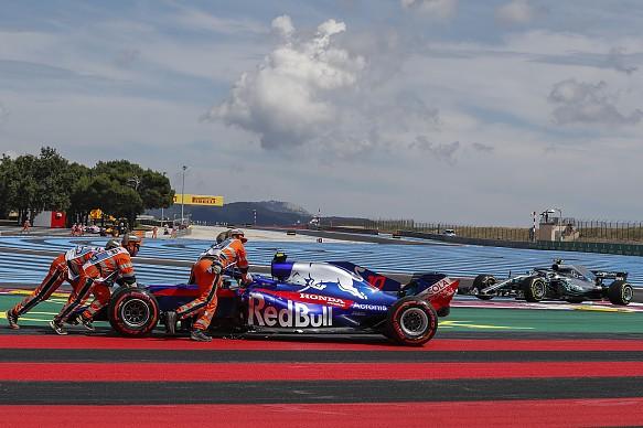 Pierre Gasly crash French GP 2018