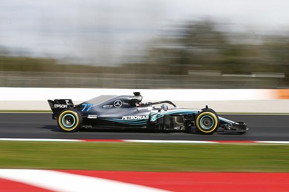 Valtteri Bottas Mercedes F1 testing 2018