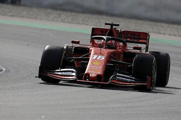 Charles Leclerc Ferrari Barcelona F1 testing 2019