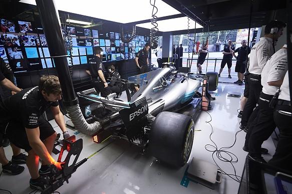 Mercedes F1 garage