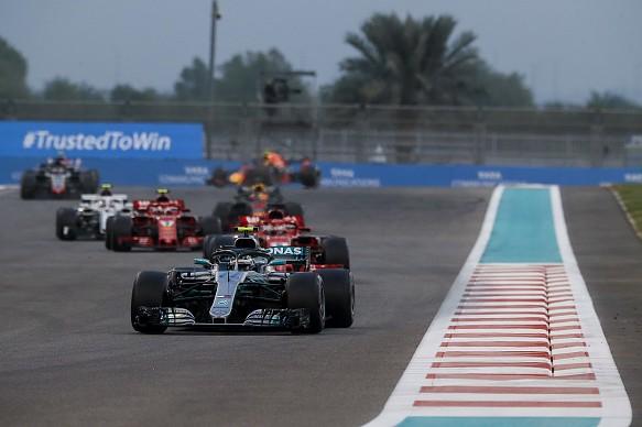 Valtteri Bottas Mercedes Abu Dhabi GP 2018