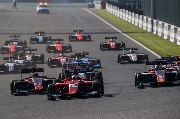 GP3 race start 2018