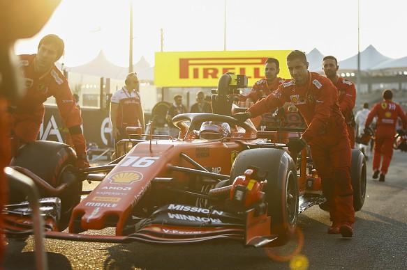 Leclerc Ferrari Abu Dhabi GP F1 2019