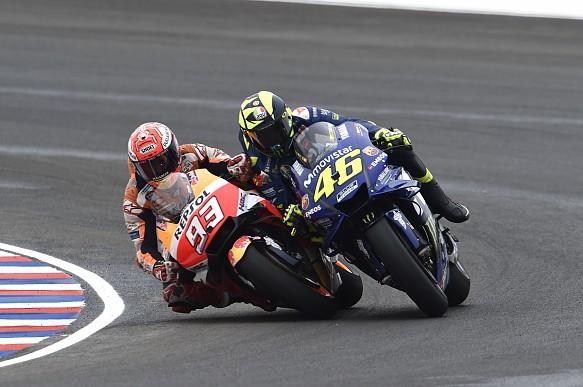 Marquez Rossi MotoGP Argentina 2018