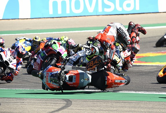 Jorge Lorenzo crash Aragon MotoGP 2018
