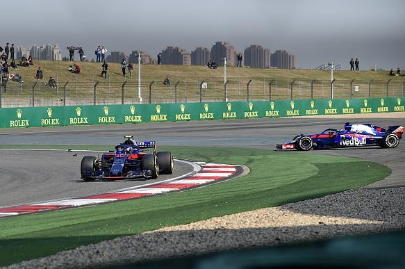 Toro Rosso collision Chinese GP 2018