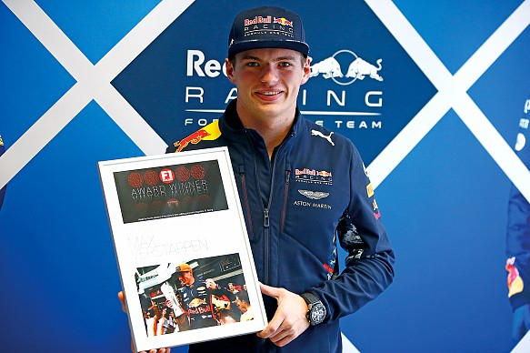Max Verstappen F1 Racing Awards 2017
