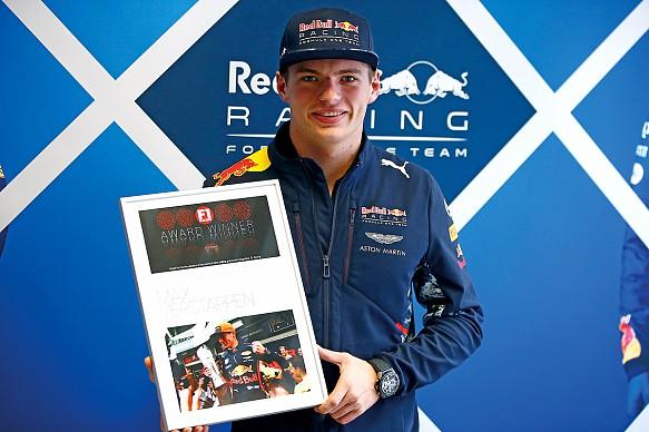 Max Verstappen F1 Racing Awards 2017