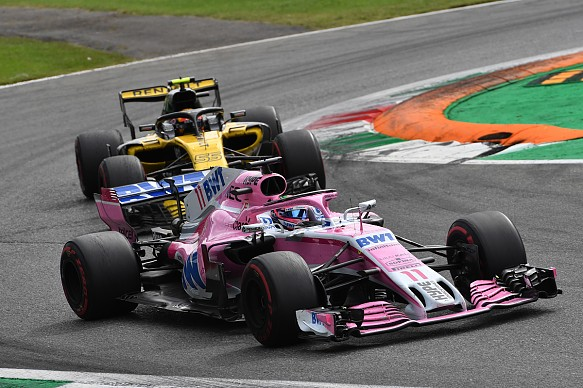 Perez Sainz Italian Grand Prix 2018