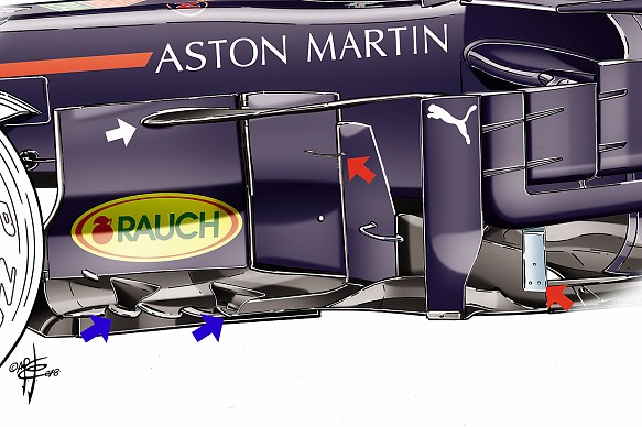 Red Bull F1 bargeboard detail