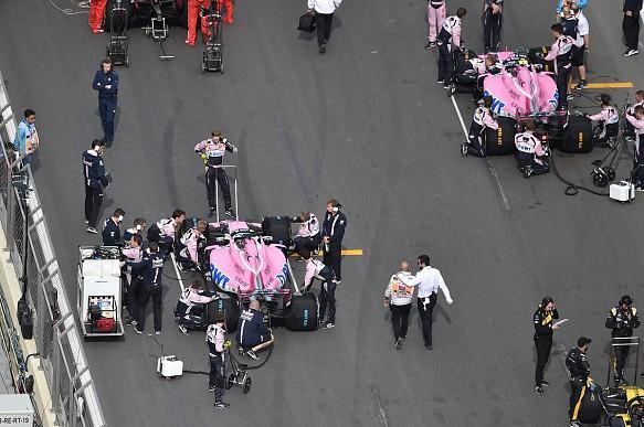 Force India F1 grid Baku 2018