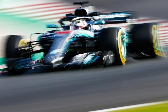 Lewis Hamilton Mercedes F1 testing 2018