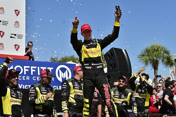Sebastien Bourdais IndyCar St Petersburg 2018 victory lane