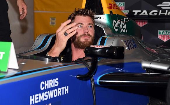 Chris Hemsworth Formula E New York 2017