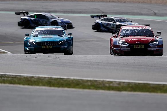 Gary Paffett Mercedes Rene Rast Audi Nurburgring DTM 2018