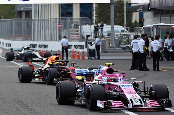 Force India Red Bull Mercedes F1 2018