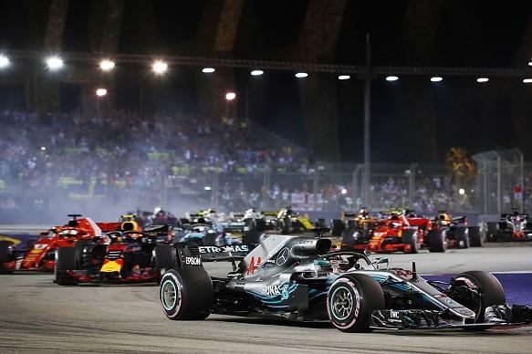 Singapore GP race start F1 2018