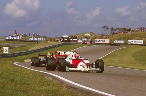 Lauda Senna Zandvoort F1 1985