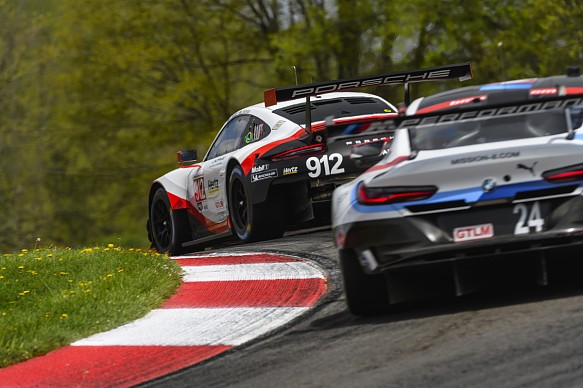 CORE Porsche #912 and RLL BMW #24 IMSA