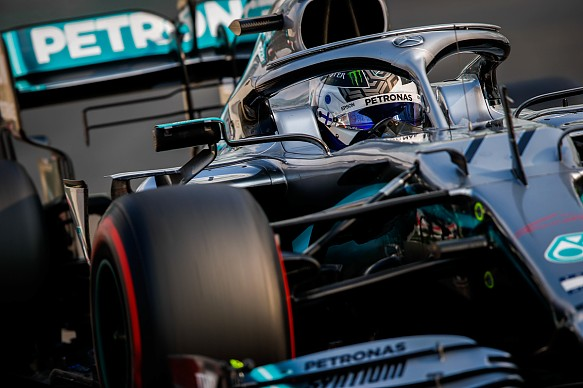 Valtteri Bottas Mercedes Abu Dhabi F1 tyre test 2019