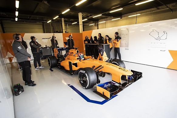 Tom Gamble McLaren F1 test