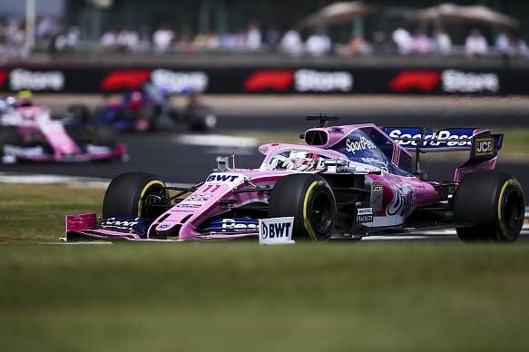 Sergio Perez Racing Point British Grand Prix 2019
