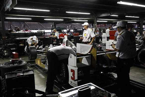 Penske garage Gateway Indycar 2017