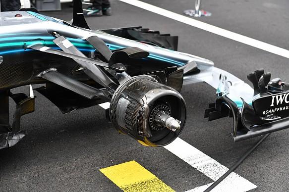 Mercedes Formula 1 suspension