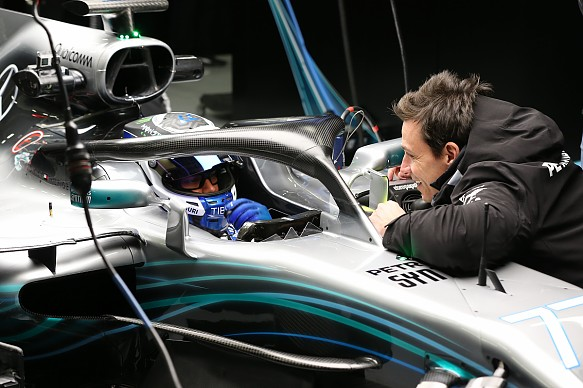 Toto Wolff halo 2018