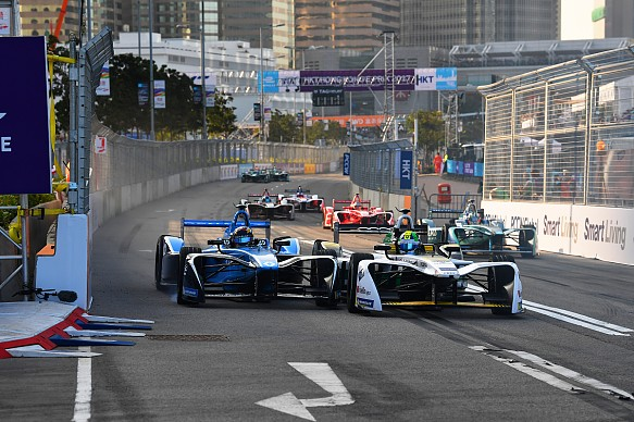 Buemi di Grassi Hong Kong Formula E 2017