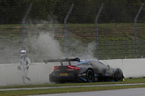 Daniel Juncadella R-Motorsport Aston retires Hockenheim DTM 2019