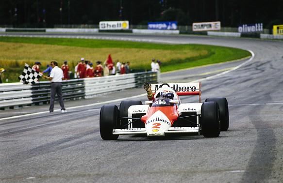 Alain Prost McLaren 1985 Austrian Grand Prix
